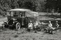 Le camping en 1920
