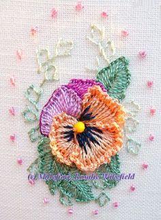 Flor em relevo