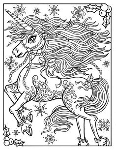 Adult Coloring Page. Christmas Unicorn Adult Coloring Page Book Holidays Fantasy Art Stackable Washer Dryer Magic Chef Washing Machine Drain Pipe Size Portable And Hose Clamp When Was Horse Coloring Pages, Unicorn Coloring Pages, Cat Coloring Page, Coloring Book Art, Printable Adult Coloring Pages, Fairy Coloring, Flower Coloring Pages, Mandala Coloring Pages, Colouring Pages