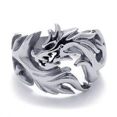 Men's Dragon Ring 316L Titanium Steel Jewelry for Women & Men