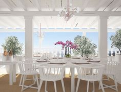 Cotton Beach Club Ibiza, summer is around the corner! Ibiza Beach Club, Ibiza Wedding Venues, Rent A Villa, Terrace Restaurant, Caribbean Homes, Beach Bars, Luxury Holidays, Beach Themes, Renting A House