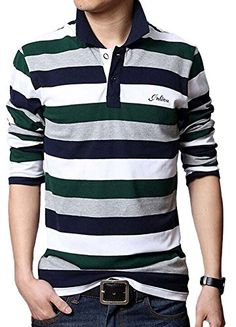 Minibee Men's Lapel Long Sleeves Stripe Patchwork Shirts Green L Minibee http://www.amazon.com/dp/B00T9CJBFK/ref=cm_sw_r_pi_dp_H-giwb0P7A9AE
