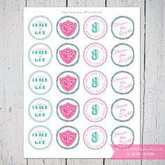 LDS Baptism Cupcake Toppers in Pinks and Aquas by PocketFullofPixels, $5.00