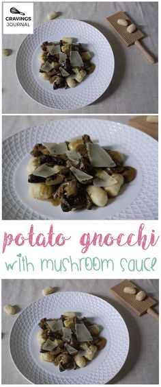 Soft, light and perfect potato gnocchi with a creamy mushroom sauce. Simple perfection