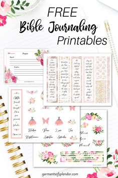Access an entire library of over 60 pages of Bible journaling printables and prayer journal pages!