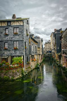 Pont Audemer - a charming little village in Normandy, France.