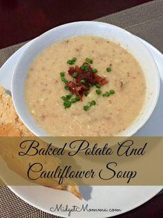 Baked Potato Cauliflower Soup -  midgetmomma