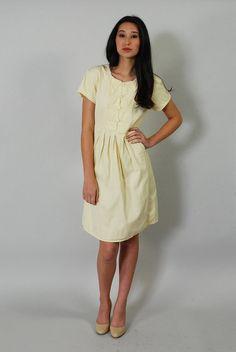 Vintage Butter Yellow Denim Dress