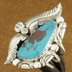Custom Navajo Sterling Silver Bisbee II Turquoise Ring $170.00 #Alltribes One of a Kind!