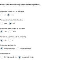 Zadanie 1 Rozdział II, Rzeczownik (3 pkt.)