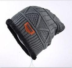 Men's Skullies Hat Bonnet Winter Beanie Knitted Wool Hat Plus Velvet Cap Thicker Mask Fringe Ski Sports Beanies Hats for men
