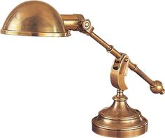 "PIMLICO BOOM ARM PHARMACY DESK LAMP  item # CHA8159    Height: 12 1/2"" - 19""  Extension: 21"" - 28""  Base: 7"" Round  Shade Size: 7"" x 3 1/2"" Round  Wattage: 1 - 60 Watt Type A  Socket: Hi-Lo Switch  price: $420.00"