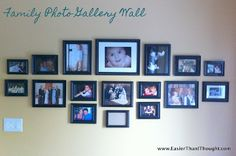Easier Than I Thought: Family Photo Gallery Wall