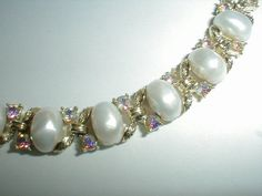sparkling vintage lisner gp ab crystals pearl by fadedglitter42263, $42.00