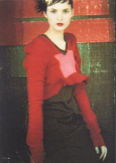 Theresa Stewart by Sarah Moon - Elle Germany Dec,1994.