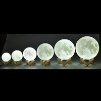 Rechargeable Moon Lamp 3 Color Change 3d Light Touch Switch 3d Print Lamp Moon Bedroom Bookcase Night Light Creative Gifts Wish In 2020