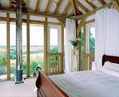 Bedroom with far reaching views