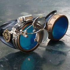 Steampunk-goggles-Vampire-welding-diesel-punk-biker-goth-cosplay-rave-lens-gcg