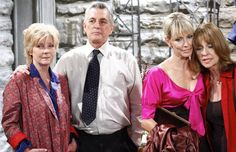 The final episode.      Tom and Margo Hughes, Emily and Susan Stewart