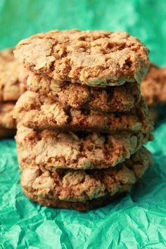 Soft and chewy vegan oatmeal cookies. These super easy cookies are brown sugar sweetened, coconut and cinnamon infused and make a perfect treat or snack.