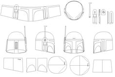 Boba Fett Helmet Blueprints/Templates
