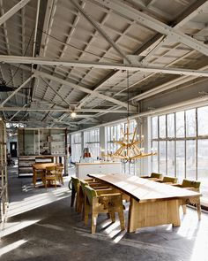 Piet Hein Eek Laboratory and Workshop. Would be a gorgeous studio...