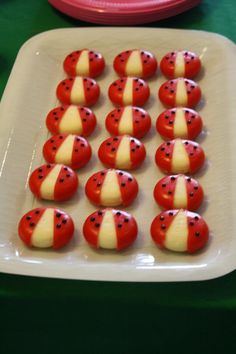 cute ladybug snack idea using babybell cheese :)