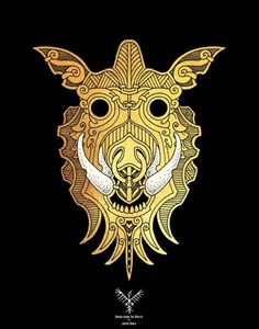 """Gullinbursti (meaning """"Gold Mane or Golden Bristles"""") is a boar in Norse mythology. When Loki had Sif's hair, Freyr's ship Skíðblaðnir and Odin's spear Gungnir fashioned by the Sons of Ivaldi, he bet his own head with Brokkr that his brother Eitri (Sindri) would not have been able to make items to match the quality of those mentioned above."""