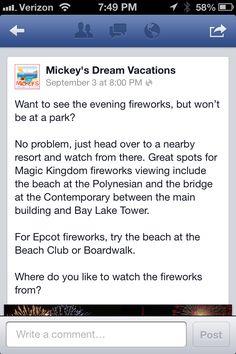 Firework viewing