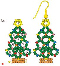Instructions for beaded Christmas tree earrings. (lots of other tutes too)  #Seed #Bead #Tutorials