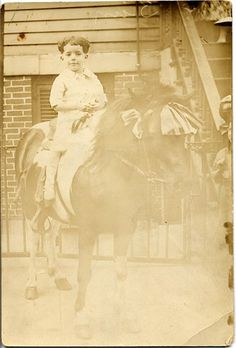 My father, William Hay in a pony portrait about 1925.