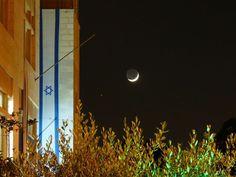 Coucher de lune sur Jérusalem