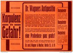 Original-Werbung/ Anzeige 1905 - DR. WAGNERS ANTIPOSITIN - ca. 180 x 130 mm