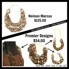 Get Designer jewelry for less with Premier Designs!  Take Two necklace..... Nat17bb.mypremierdesigns.com