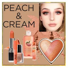 """""""Peach and creme"""" by nanni33 ❤ liked on Polyvore featuring beauty, Bobbi Brown Cosmetics, Avon, Too Faced Cosmetics and peachlipstick"""