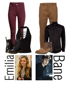 """""""For @once-upon-a-peytonn"""" by fangirl-0606 ❤ liked on Polyvore featuring H&M, Miss Selfridge, Dr. Martens, Valentino, Vivienne Westwood and BLACK BROWN 1826"""