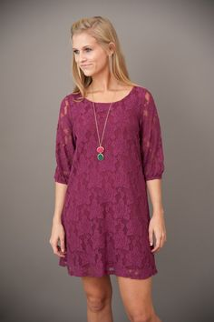 Red Dress Boutique |EVERLY: Sea Island Evening in Atlantis Dress-Mulberry   $48