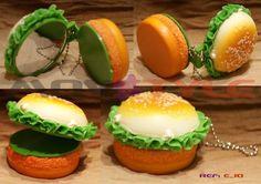 Espelho compacto Hambúrguer