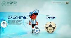 Os mascotes e as bolas personalizadas das Copas