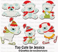 Winter Bears cutting files, cutting pattern, WPC, SVG, GSD, MTC, SCAL, SILHOUETTE, PDF, JPEG, DXF, Too Cute by Jessica, paper piecing, pazzles