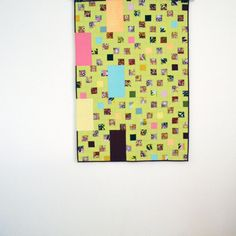 Green Baby Quilt Modern Baby Quilt Lime Green by TwiggyandOpal