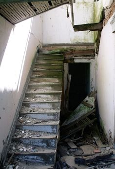 Neglected Stairs Old Abandoned. Kinda remind me of my old house in Kenmore!