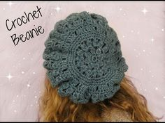 DIY Crochet Beret / Beanie Pattern - YouTube