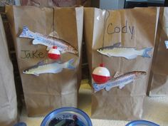 Fishing party goody bags