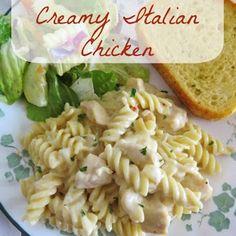 Crock Pot Creamy Italian Chicken #CrockPot #creamypasta #Italian #italianfood #chicken #chickenrecipes #recipes #food #lunch #dinner