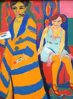 "Ernst Ludwig Kirchner.German expressionist painter and printmaker and one of the founders of the artists group Die Brücke or ""The Bridge"", a key group leading to the foundation of Expressionism in 20th-century art."