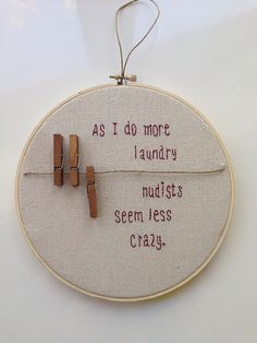 Knitting quotes sayings signs . Knitting quotes sayings signs ideas for 2019 Always wanted to learn to . Embroidery Designs, Embroidery Hoop Art, Hand Embroidery Patterns, Cross Stitch Embroidery, Cross Stitch Patterns, Funny Embroidery, Machine Embroidery, Quilt Patterns, Laundry Art