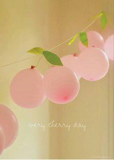 Balloon cherries