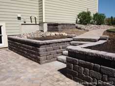 retaining wall ideas | ... under Deck with Retaining Wall & Steps - Minnesota Landscaping Ideas