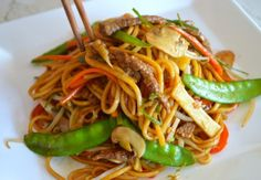 BEEF LO MEIN | I'd double the sauce ingredients and add fresh ginger, oyster sauce and rice wine vinegar.  i like the veggies though.